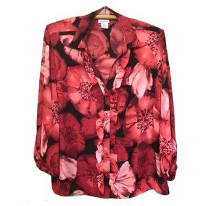 Jaclyn Smith Pink Floral Top Size XL